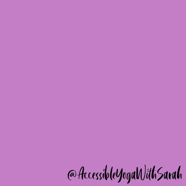 A purple colour block